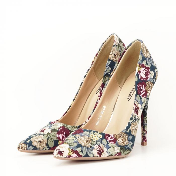 Pantofi cu imprimeu floral Rosa 1