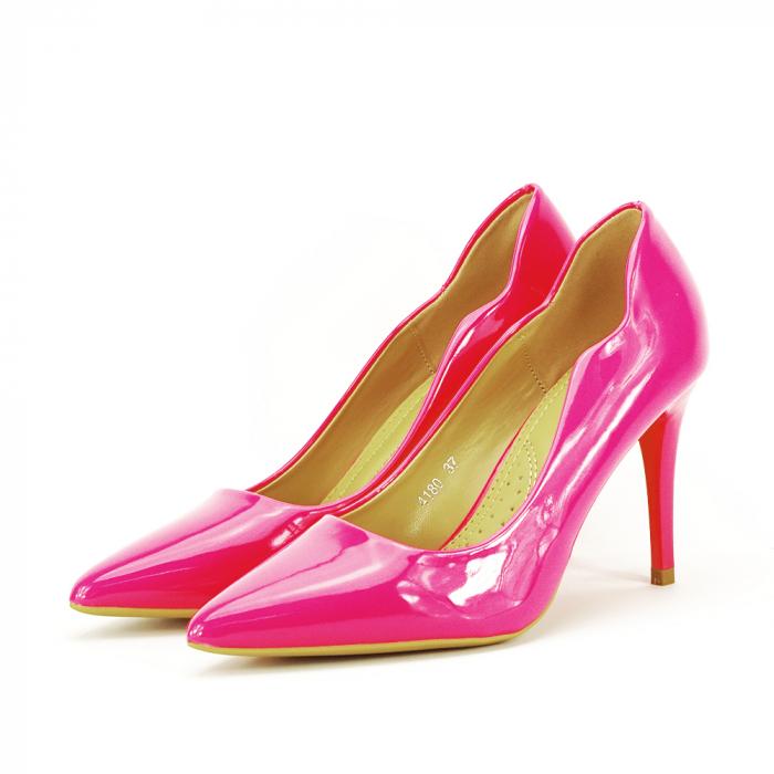 Pantofi fuxia lacuiti Tiffany 1