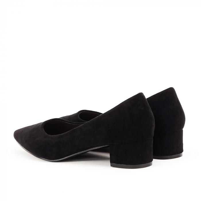 Pantofi negri cu toc mic Elisa 4