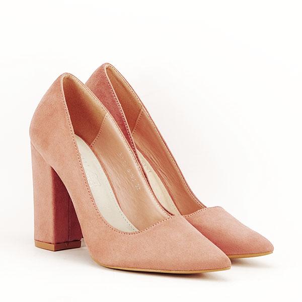 Pantofi cu toc nude Leila 2