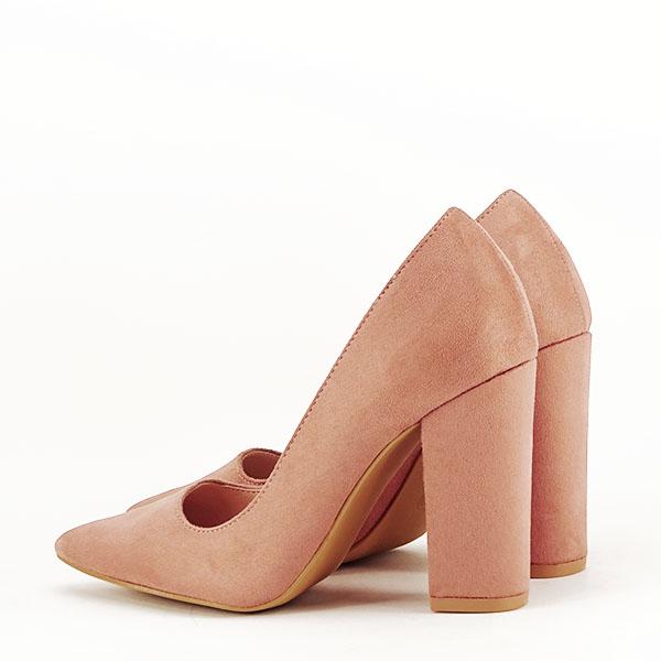 Pantofi cu toc nude Leila 5