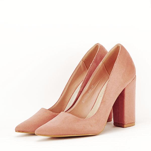 Pantofi cu toc nude Leila 3