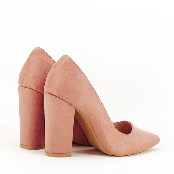 Pantofi cu toc nude Leila 4