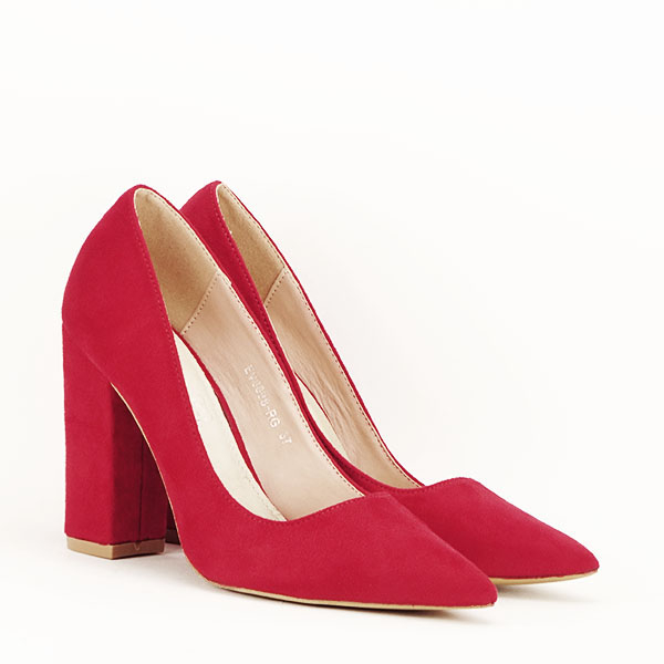 Pantofi cu toc rosii Leila [3]