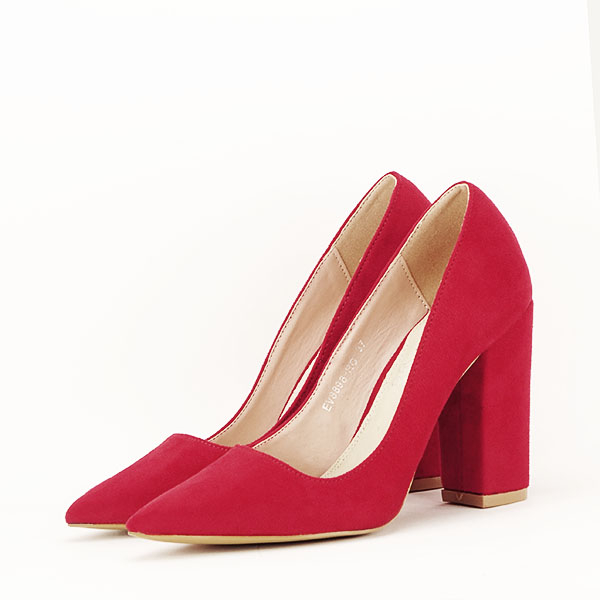 Pantofi cu toc rosii Leila [2]