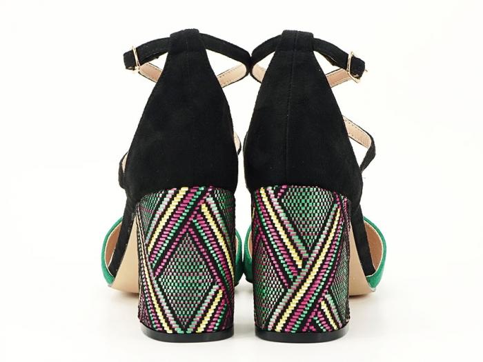 Pantofi decupati lateral cu toc mediu Etnica 3