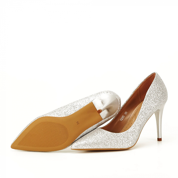 Pantofi eleganti argintii Claudia [5]