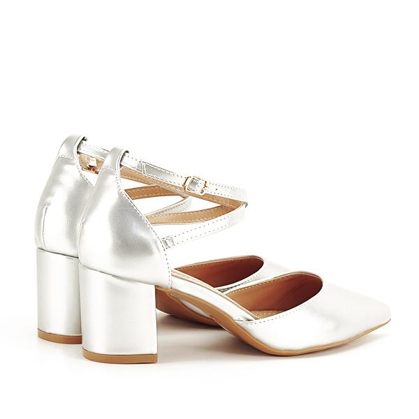 Pantofi eleganti argintii Lola [4]