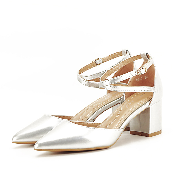 Pantofi eleganti argintii Lola [0]