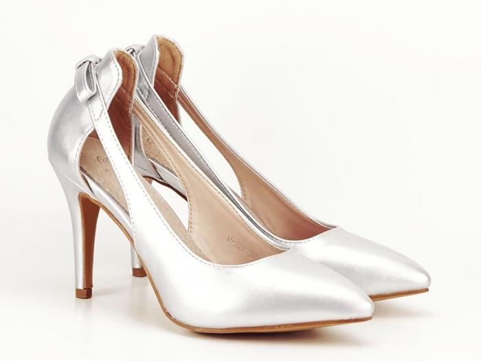 Pantofi eleganti argintii Maria 3