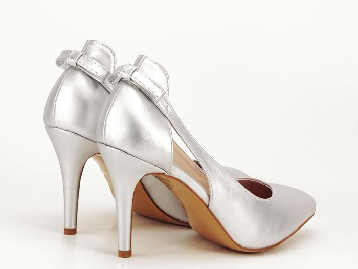Pantofi eleganti argintii Maria 7