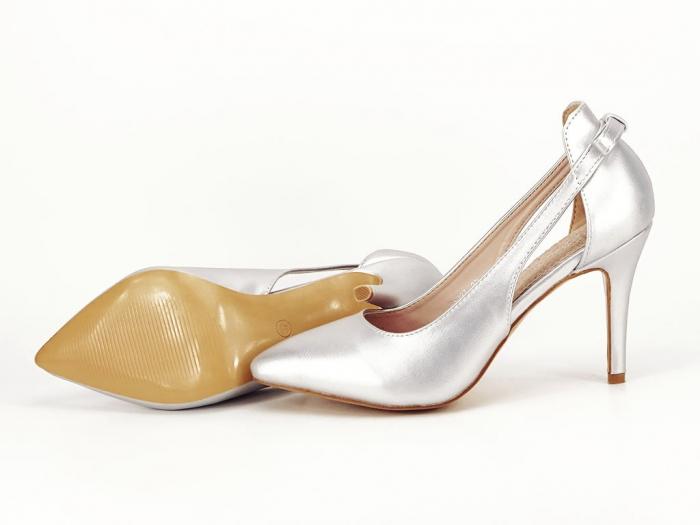 Pantofi eleganti argintii Maria 4