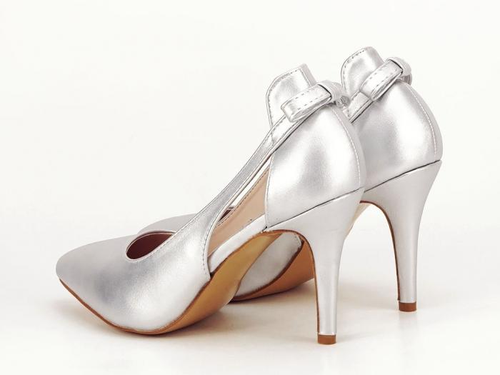 Pantofi eleganti argintii Maria 5