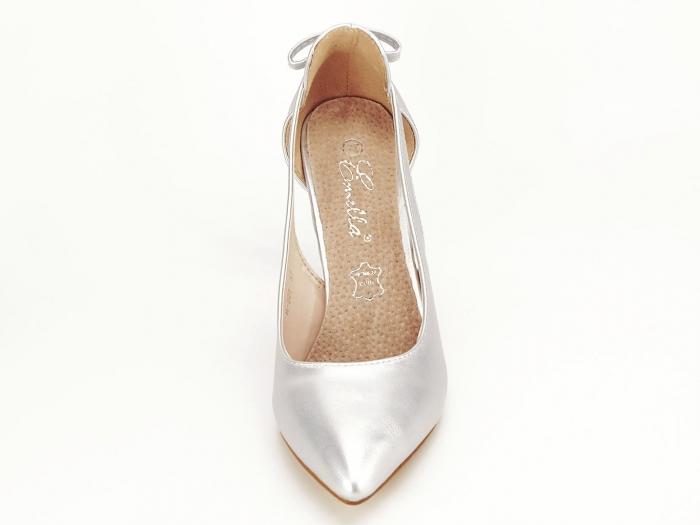 Pantofi eleganti argintii Maria 2