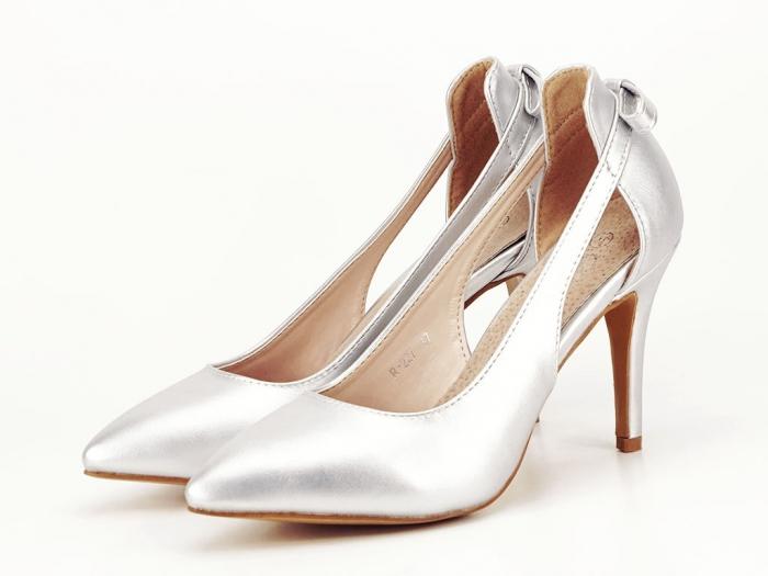 Pantofi eleganti argintii Maria 1