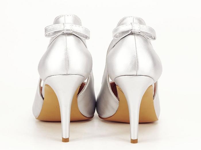 Pantofi eleganti argintii Maria 6