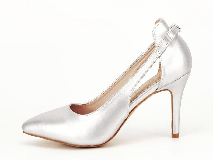 Pantofi eleganti argintii Maria 0
