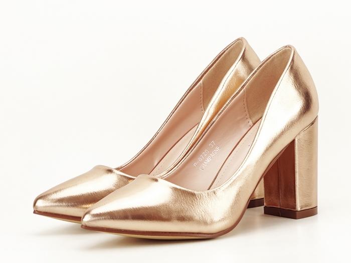 Pantofi eleganti champagne Ariana 2