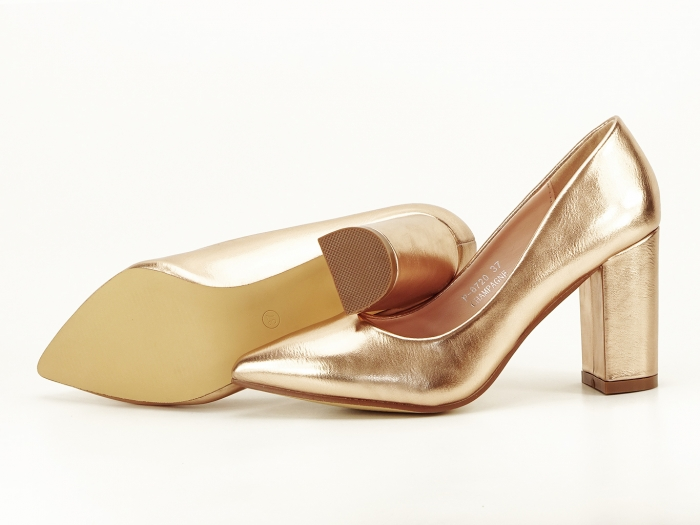 Pantofi eleganti champagne Ariana 1