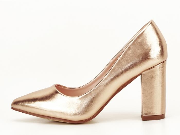 Pantofi eleganti champagne Ariana 0