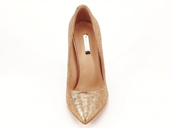 Pantofi eleganti stiletto champagne Ingrid 3