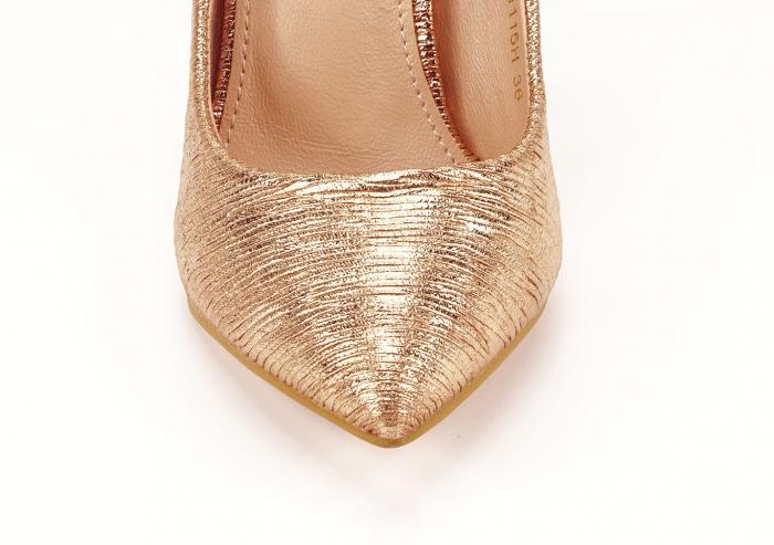 Pantofi eleganti stiletto champagne Ingrid 4