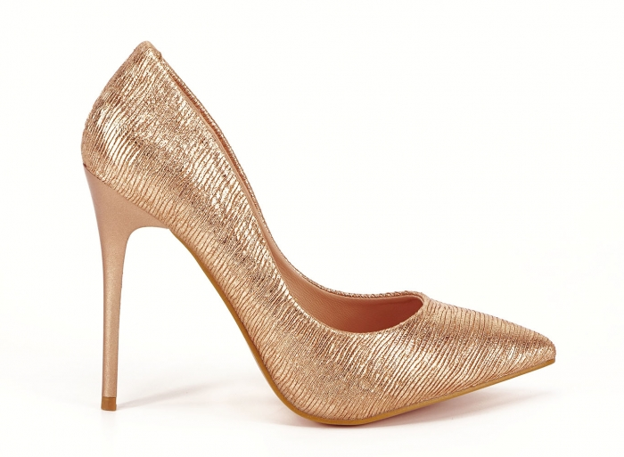 Pantofi eleganti stiletto champagne Ingrid 0