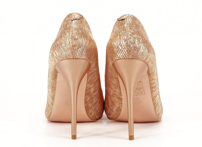 Pantofi eleganti stiletto champagne Ingrid 6