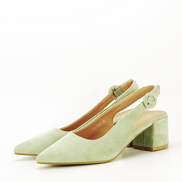 Pantofi fistic cu toc mic Simina [1]