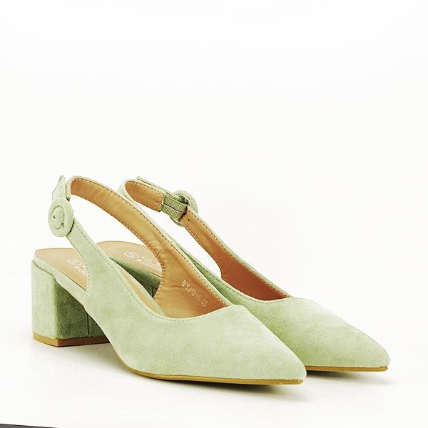 Pantofi fistic cu toc mic Simina [2]