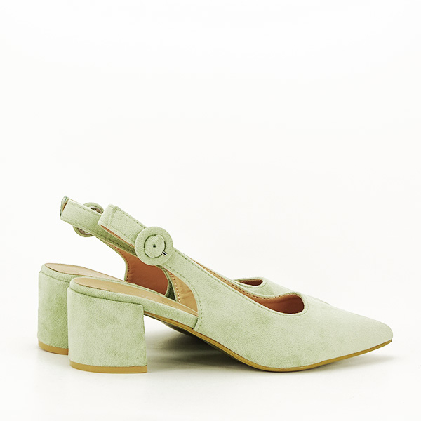 Pantofi fistic cu toc mic Simina [4]