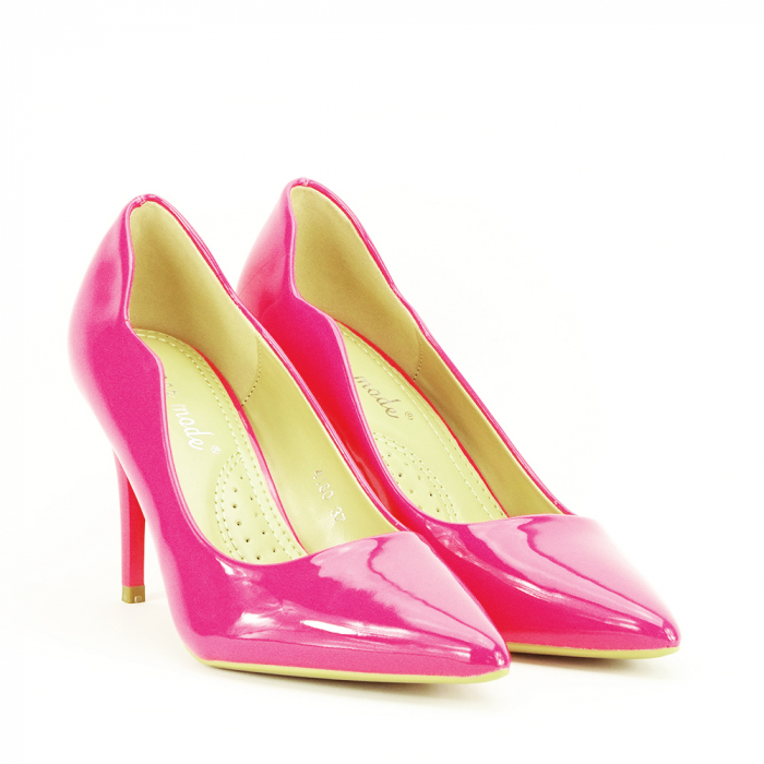 Pantofi fuxia lacuiti Tiffany 2