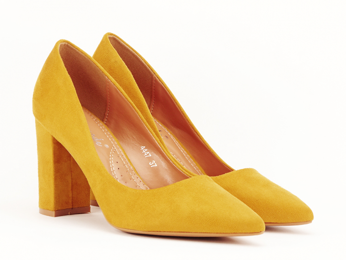 Pantofi office galben mustar Britney 2 1