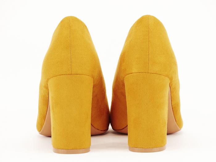 Pantofi office galben mustar Britney 2 6