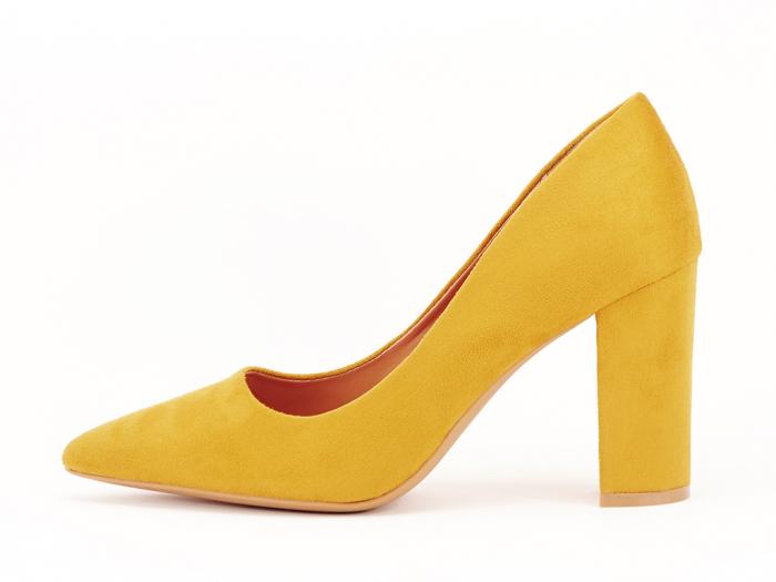 Pantofi office galben mustar Britney 2 0