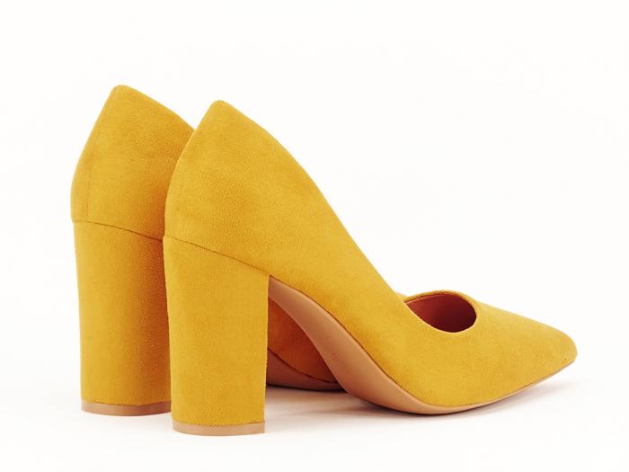 Pantofi office galben mustar Britney 2 4
