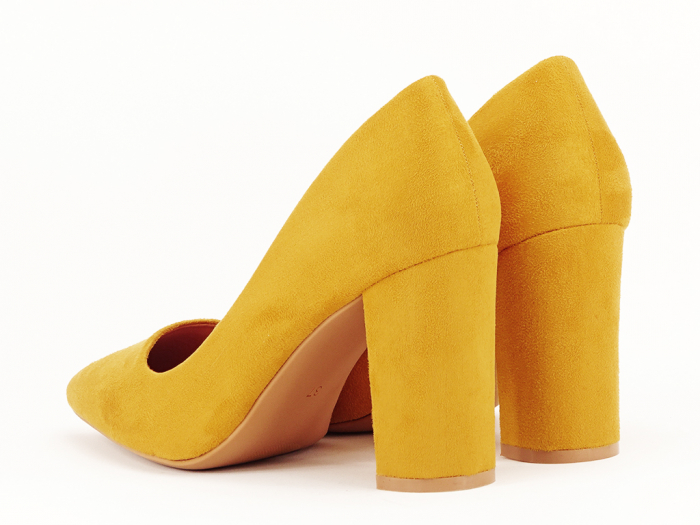 Pantofi office galben mustar Britney 2 5