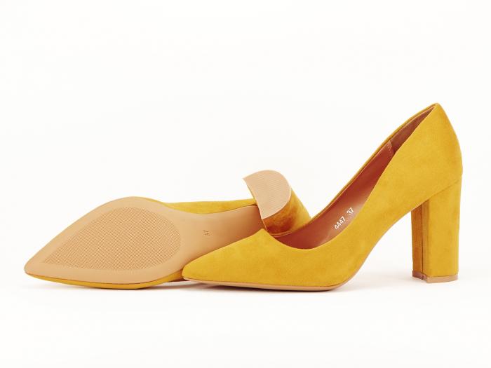 Pantofi office galben mustar Britney 2 2