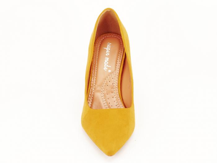 Pantofi office galben mustar Britney 2 7