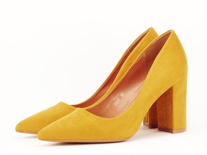 Pantofi office galben mustar Britney 2 3