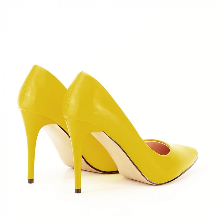 Pantofi galbeni cu toc Irina [1]