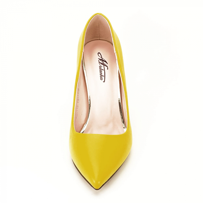 Pantofi galbeni cu toc Irina [7]