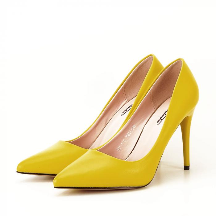 Pantofi galbeni cu toc Irina [2]