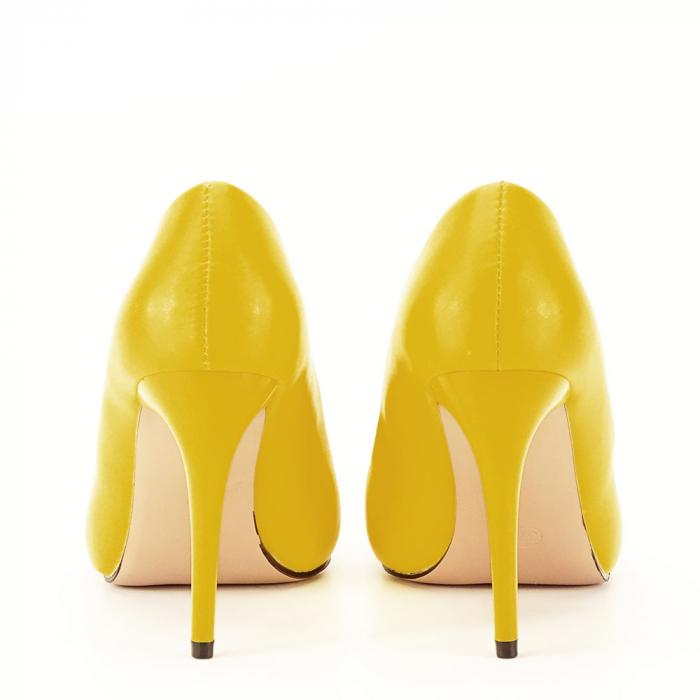 Pantofi galbeni cu toc Irina [3]