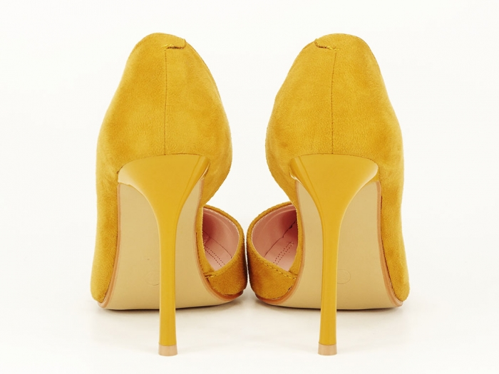Pantofi eleganti galbeni decupati lateral Aniston 6