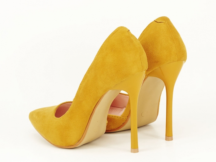 Pantofi eleganti galbeni decupati lateral Aniston 5