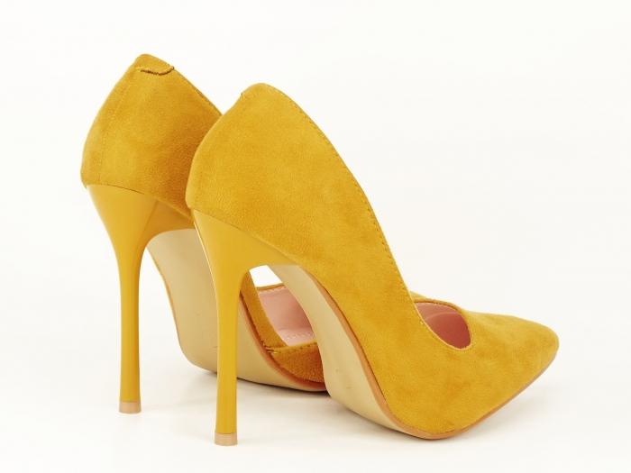 Pantofi eleganti galbeni decupati lateral Aniston 7