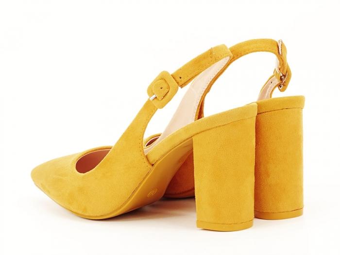 Pantofi galbeni decupati Elina 6