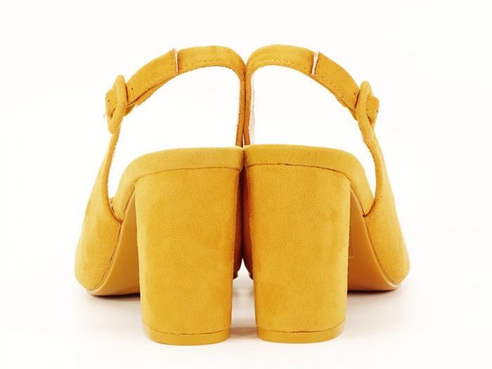 Pantofi galbeni decupati Elina 4