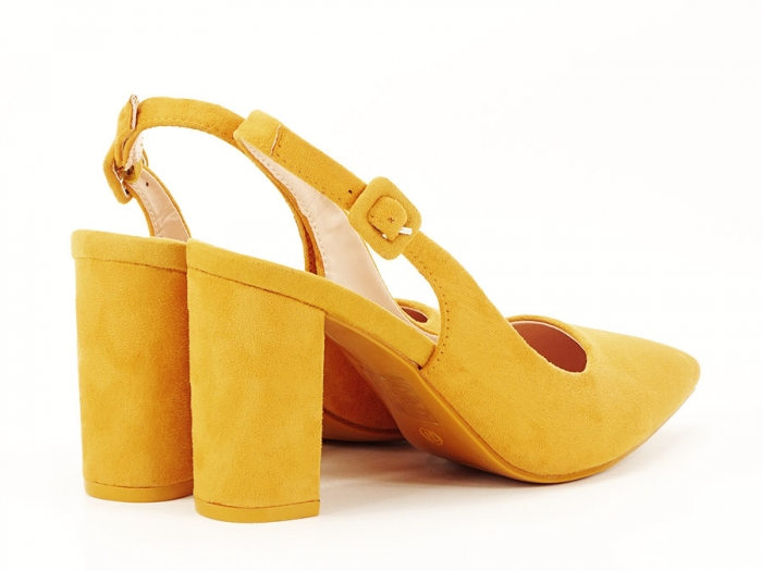 Pantofi galbeni decupati Elina 1